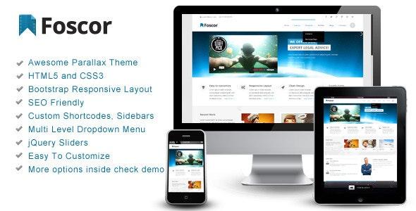 Foscor – Interactive Parallax - Responsive Theme - Corporate Site Templates