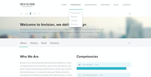 INVISION Corporate Site Template