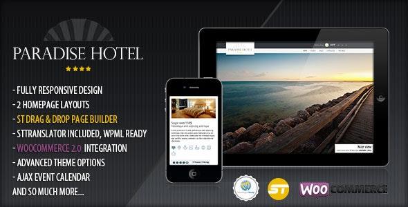 Paradise Hotel - Responsive WordPress Hotel Theme - Travel Retail