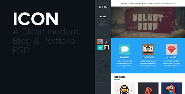 ICON - PSD Portfolio & Blog Template - Creative Photoshop