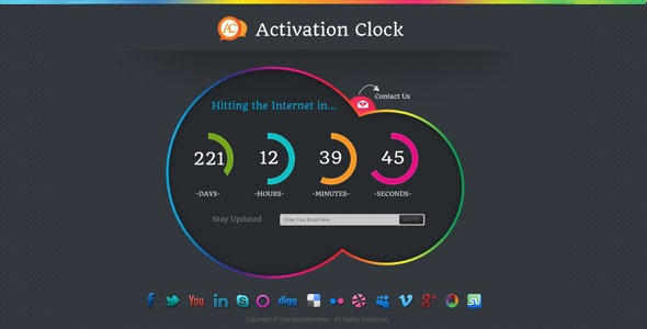 Activation Clock - Creative Site Templates