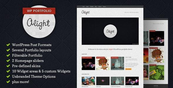 Alight - WordPress Portfolio - Portfolio Creative