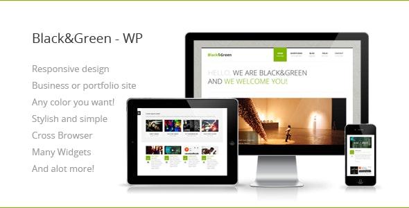 Black&Green - Responsive WordPress Theme - Portfolio Creative