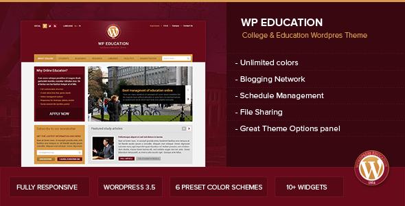 WP Education - Responsive, professional and powerful education theme - Education WordPress