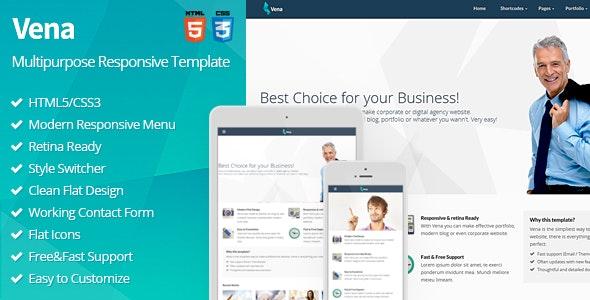 Vena - Multipurpose Responsive Template - Corporate Site Templates