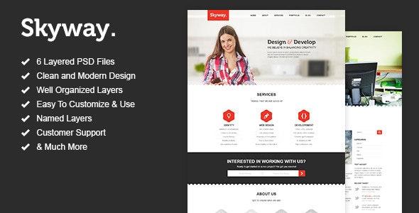 Skyway - One Page Portfolio PSD Template - Portfolio Creative