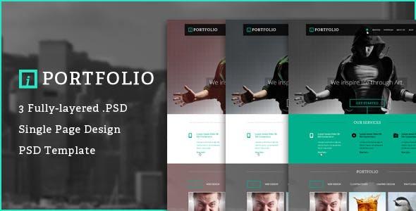 iPortfolio - One Page PSD Portfolio Template