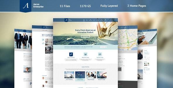 Aeron - Premium Corporate PSD Template - Business Corporate
