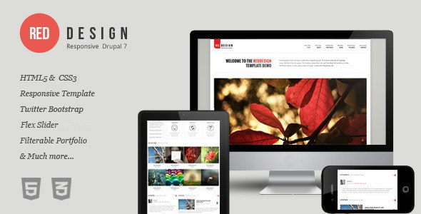 RedDesign - Responsive Drupal 7 Theme by DDamir | ThemeForest