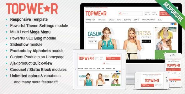 Responsive OpenCart Theme - BossThemes TopWear by kalathemes