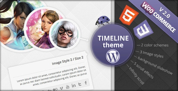 Timeline eCommerce Wordpress Theme - Creative WordPress