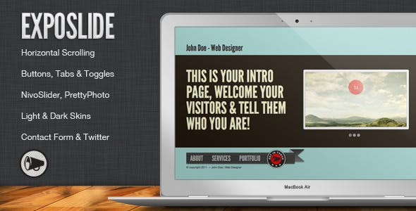 ExpoSlide - Creative One Page Html Template
