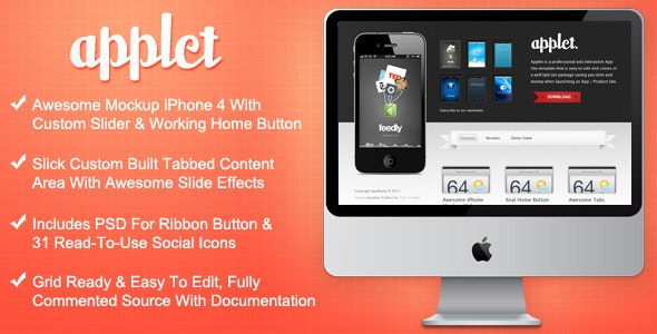 Applet - Interactive App Site Template - Apps Technology