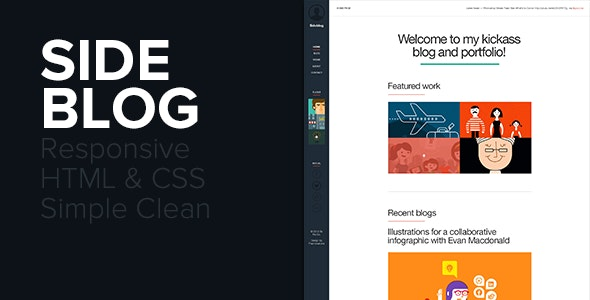 Sideblog - A Modern Responsive Blog & Portfolio - Creative Site Templates