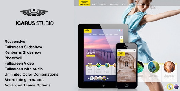 iCarus   Photography Theme for WordPress - Photography Creative