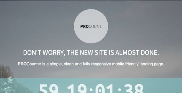 PROCount: Countdown Landing Page