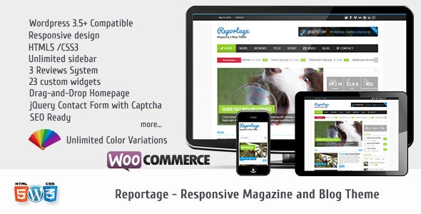 Reportage - Magazine & Blog Theme - Blog / Magazine WordPress