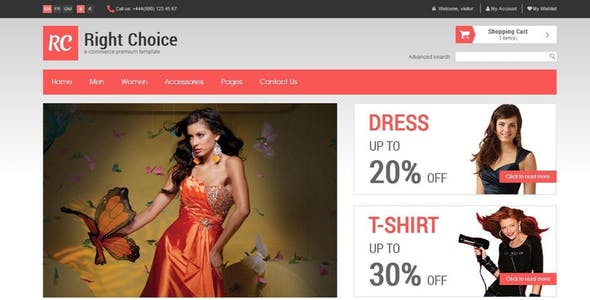 Right Choice - HTML5 & CSS3 E-Commerce Template