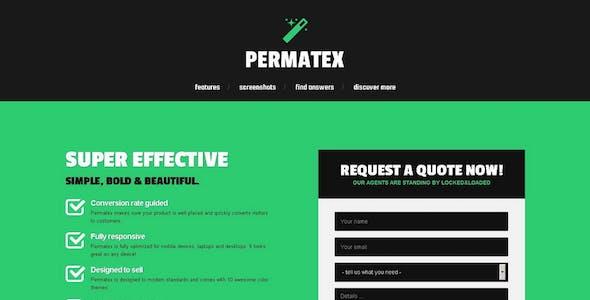 Permatex - Lead Generating Responsive Landing Page