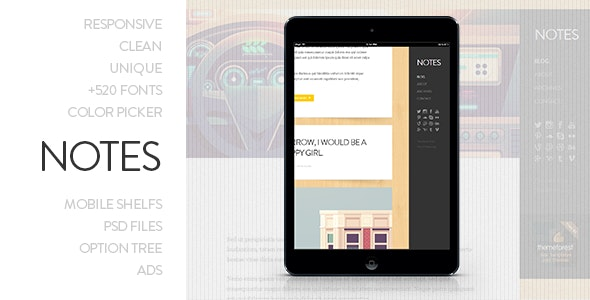 Notes - Personal WordPress Theme - Personal Blog / Magazine