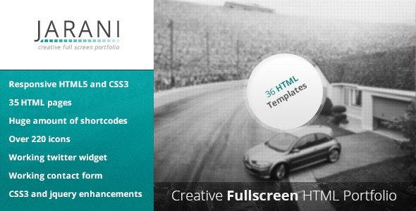 Jarani - Creative Full Screen Portfolio HTML - Portfolio Creative