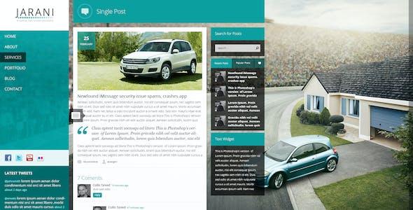 Jarani - Creative Full Screen Portfolio HTML