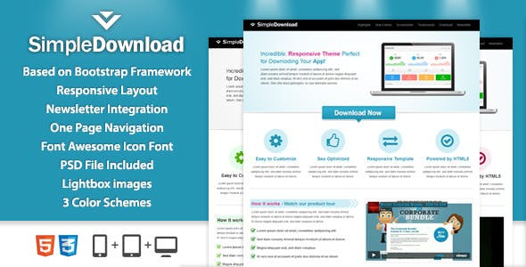 SimpleDownload Landingpage