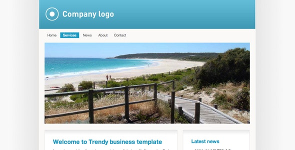 Trendy blue business - Business Corporate