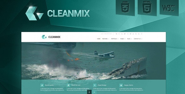 CleanMix -HTML5, CSS3, Corporate Template - Business Corporate