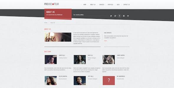 Provocateur - Creative PSD Template