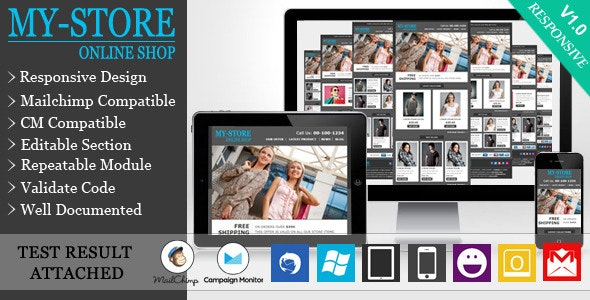 MyStore - Responsive E-commerce Email Template - Email Templates Marketing