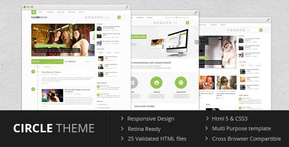 Circle theme - Multi Purpose Template - Corporate Site Templates