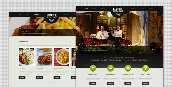 LaMonte - Modern Restaurant WordPress Theme - Food Retail