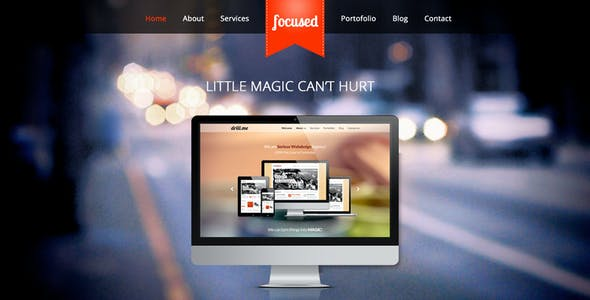 focused - One Page HTML5 Template