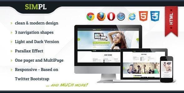 SIMPL - Clean Modern Portfolio & Business Site Tem - Business Corporate