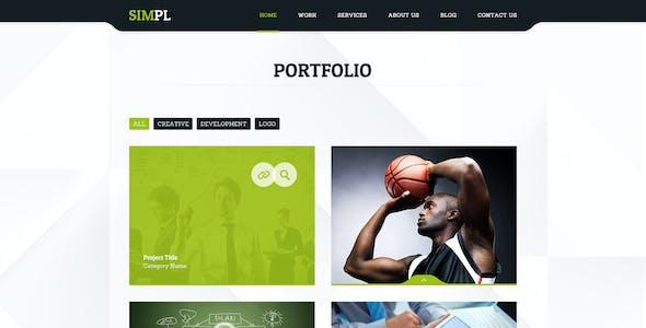 SIMPL - Clean Modern Portfolio & Business Site Tem