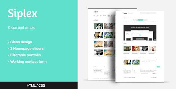 Siplex - Creative Site Templates