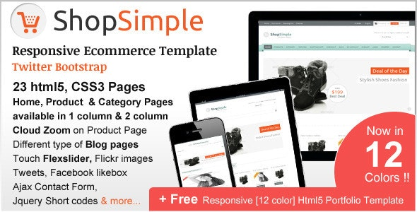 ShopSimple - Responsive Ecommerce Template - Shopping Retail