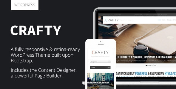Crafty - Responsive Retina-ready WordPress Theme - Creative WordPress