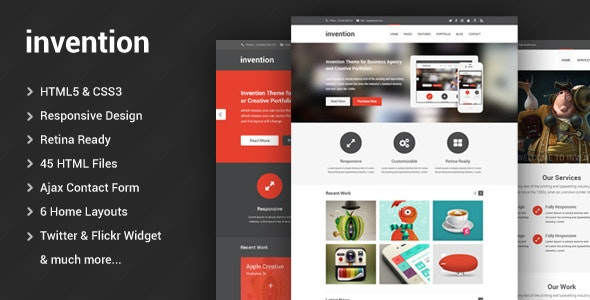 Invention - Responsive HTML5 Template - Business Corporate
