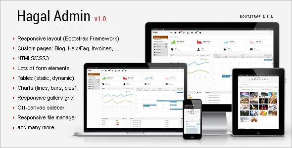 Hagal - Admin Responsive Template - Admin Templates Site Templates