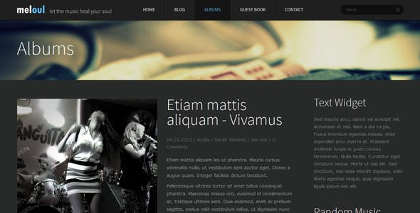 Meloul - Music Responsive Joomla Template