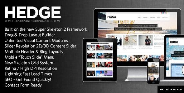 Hedge | A Unique Multipurpose Theme - Business Corporate