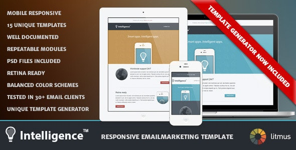 Intelligence - Responsive Emailmarketing Template - Newsletters Email Templates