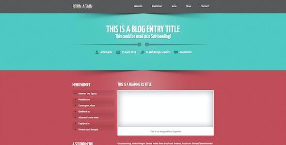 Born Again - A Responsive One Page Portfolio