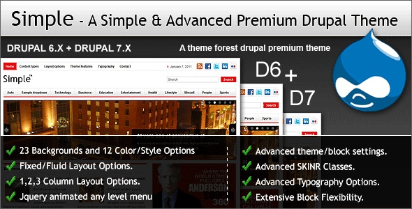 Simple - A Simple & Advanced Premium Drupal Theme by