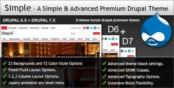 Simple - A Simple & Advanced Premium Drupal Theme - Drupal CMS Themes