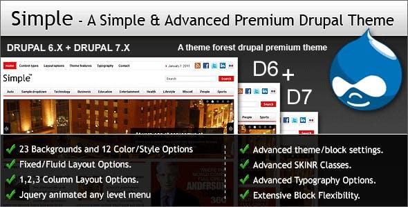 Simple - A Simple & Advanced Premium Drupal Theme