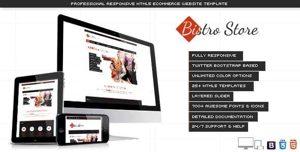 Bistro Store - Responsive eCommerce Template - Shopping Retail