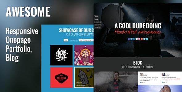 Awesome Responsive Onepage Portfolio & Blog - Portfolio Creative
